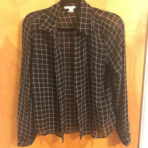 Black and White checkered button up